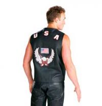 American Eagle Leather Vest